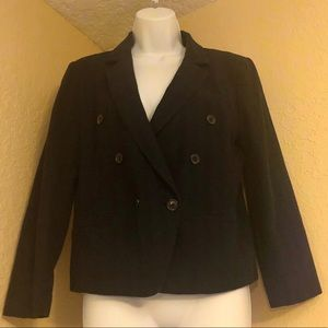 ANN TAYLOR LOFT 6 NWT  One button blazer black